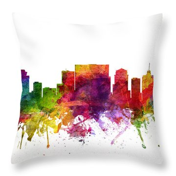 Nashville Cityscape 06 Throw Pillow by Aged Pixel
