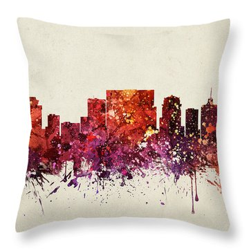 Nashville Cityscape 09 Throw Pillow by Aged Pixel