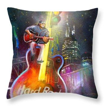 Nashville Nights 01 Throw Pillow by Miki De Goodaboom