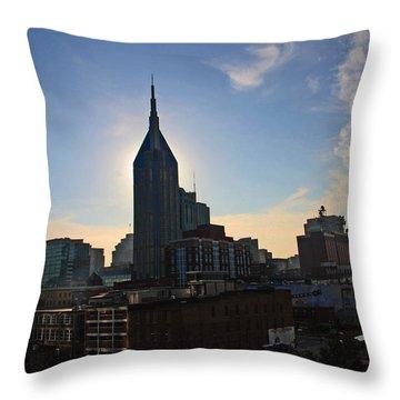 Nashville Skyline Throw Pillow by Susanne Van Hulst