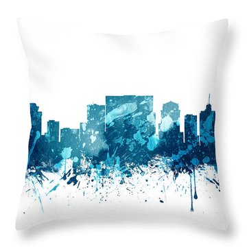 Nashville Tennessee Skyline 19 Throw Pillow by Aged Pixel