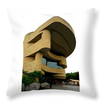 National Museum Of The American Indian 1 Throw Pillow by Randall Weidner