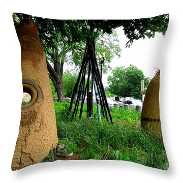 National Museum Of The American Indian 5 Throw Pillow by Randall Weidner
