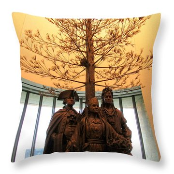 National Museum Of The American Indian 7 Throw Pillow by Randall Weidner