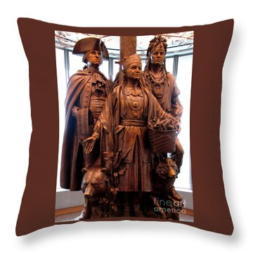 National Museum Of The American Indian 8 Throw Pillow by Randall Weidner