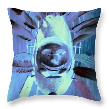 National Museum Of The American Indian 9 Throw Pillow by Randall Weidner