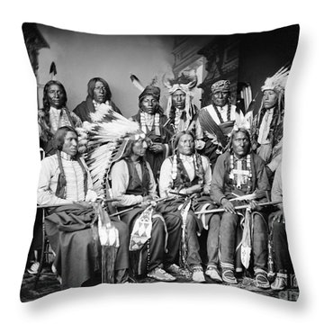 Native American Delegation, 1877 Throw Pillow by Granger