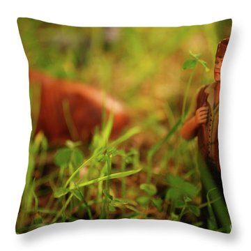 Nativity Scene Throw Pillow by Gaspar Avila