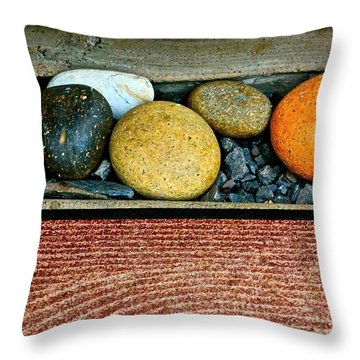 Natural Boundaries Throw Pillow by Karon Melillo DeVega