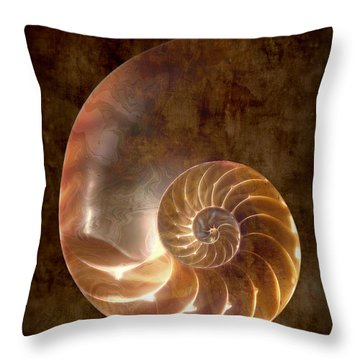 Nautilus Throw Pillow by Tom Mc Nemar