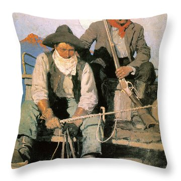 N.c. Wyeth: The Pay Stage Throw Pillow by Granger