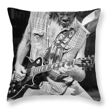 Neil Young Throw Pillow by David Plastik