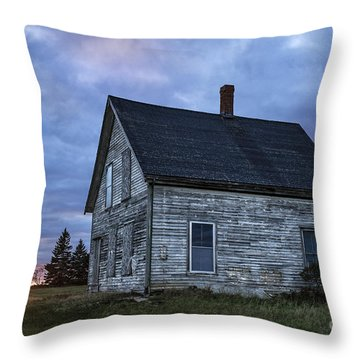 New Day Old House Throw Pillow by John Greim