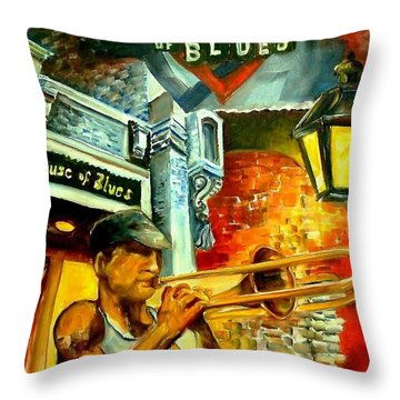 New Orleans' House Of Blues Throw Pillow by Diane Millsap