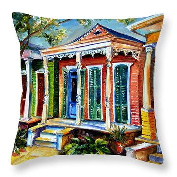 New Orleans Plain And Fancy Throw Pillow by Diane Millsap