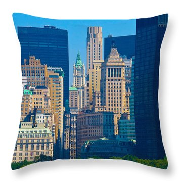 New York City Throw Pillow by Douglas J Fisher