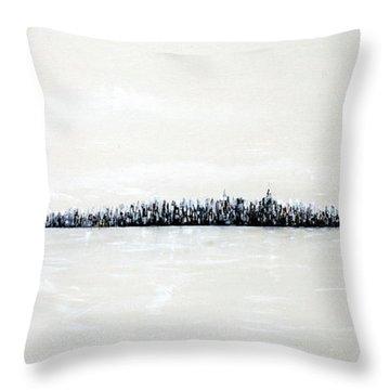 New York City Skyline 48 Throw Pillow by Jack Diamond
