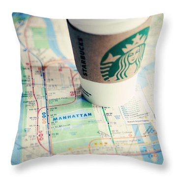 New York City Subway Map Throw Pillow by Kim Fearheiley