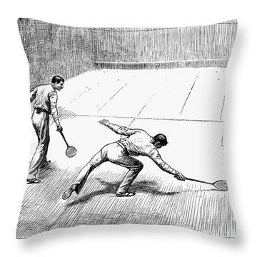 New York: Racket Club Throw Pillow by Granger