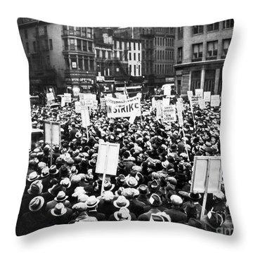 New York: Seamens Strike Throw Pillow by Granger