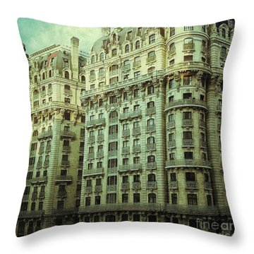 New York Upper West Side Apartment Building Throw Pillow by Amy Cicconi