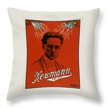 Newmann The Great - Vintage Magic Throw Pillow by War Is Hell Store