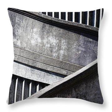Newport Bridge Throw Pillow by Elena Nosyreva