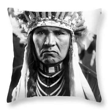 Nez Perce Native American Throw Pillow by Granger