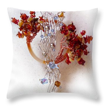 Niagra Fall Throw Pillow by Rhonda Chase