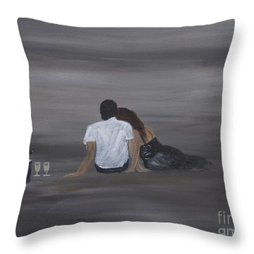 Night Cap Throw Pillow by Leslie Allen