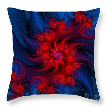 Night Fire Throw Pillow by Jutta Maria Pusl