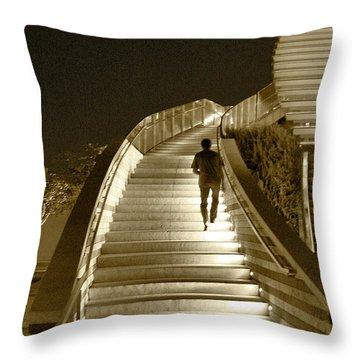 Night Time Stairway Throw Pillow by Ben and Raisa Gertsberg