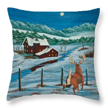 Night Watch Throw Pillow by Charlotte Blanchard