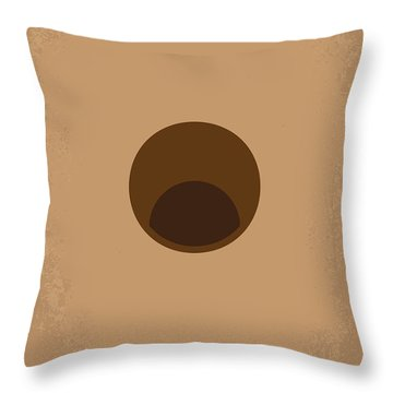 No031 My Groundhog Minimal Movie Poster Throw Pillow by Chungkong Art