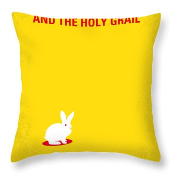No036 My Monty Python And The Holy Grail Minimal Movie Poster Throw Pillow by Chungkong Art