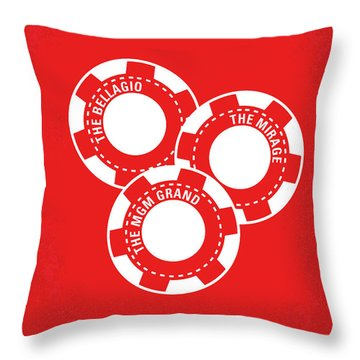 No056 My Oceans 11 Minimal Movie Poster Throw Pillow by Chungkong Art