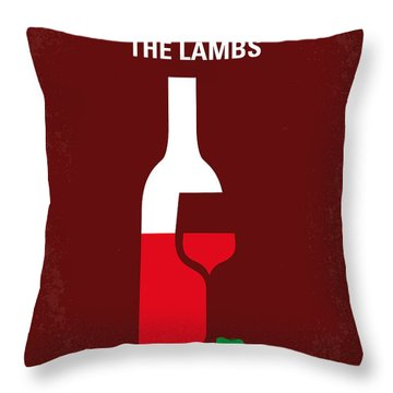 No078 My Silence Of The Lamb Minimal Movie Poster Throw Pillow by Chungkong Art