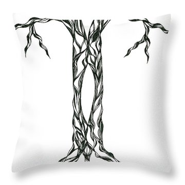 No.17 Throw Pillow by Robert Nickologianis
