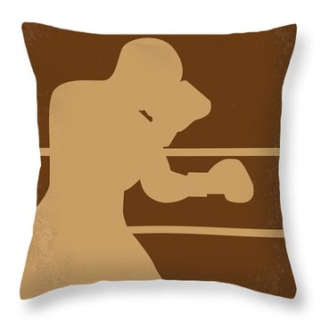 No174 My Raging Bull Minimal Movie Poster Throw Pillow by Chungkong Art