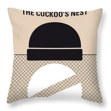 No454 My One Flew Over The Cuckoos Nest Minimal Movie Poster Throw Pillow by Chungkong Art