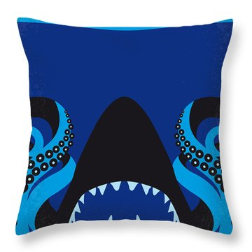 No485 My Sharktopus Minimal Movie Poster Throw Pillow by Chungkong Art