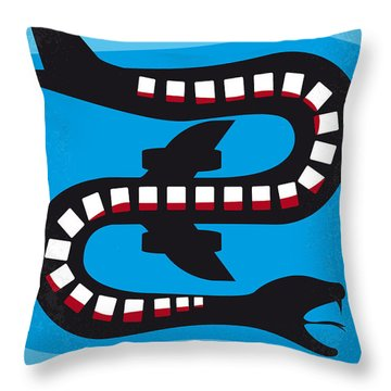 No501 My Snakes On A Plane Minimal Movie Poster Throw Pillow by Chungkong Art