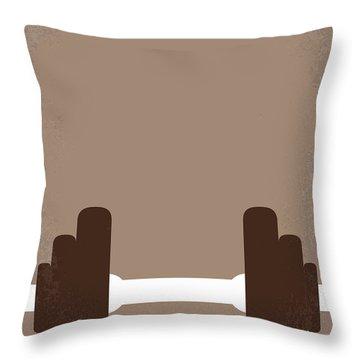 No707 My Pumping Iron Minimal Movie Poster Throw Pillow by Chungkong Art