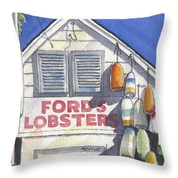 Noank Landmark Throw Pillow by Marsha Elliott