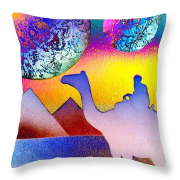 Non-stop To Cairo Throw Pillow by Drew Goehring