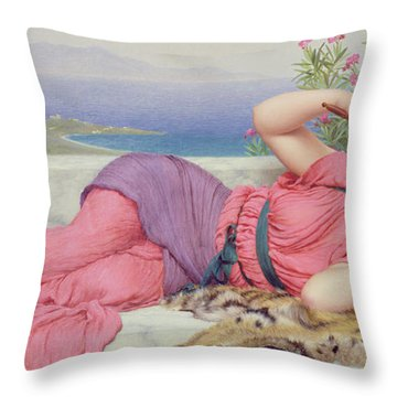 Noon Day Rest Throw Pillow by John William Godward