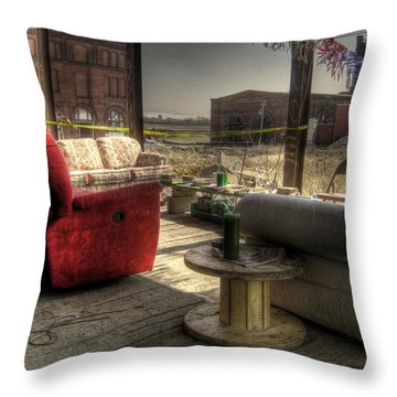 North St. Louis Porch Throw Pillow by Jane Linders