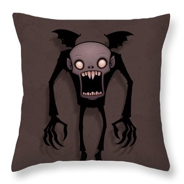 Nosferatu Throw Pillow by John Schwegel