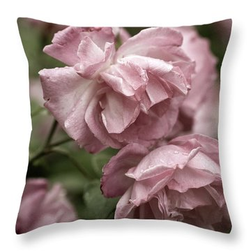 Throw Pillow featuring the photograph Nostalgic Roses by Frank Tschakert