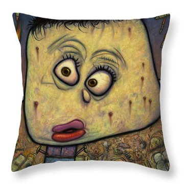 Not Playing War Throw Pillow by James W Johnson